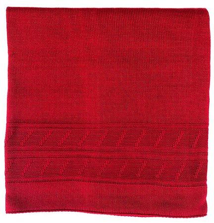 Manta de Trico Vermelha