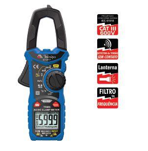 Alicate Amperímetro Digital 3 5/6D – CAT III 600V - Minipa ET-3177