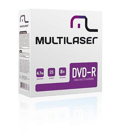 MIDIA DVD-R VEL. 08X - 25 UN. ENVELOPE IMPRESSO EM CAIXA - DV042