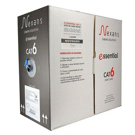 NEXANS ESSENTIALS CAT6 U/UTP CM 4P 23AWG AZC 305 MTS