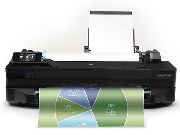 """Impressora Plotter HP Designjet T120 24"""" CQ891C#B1K"""