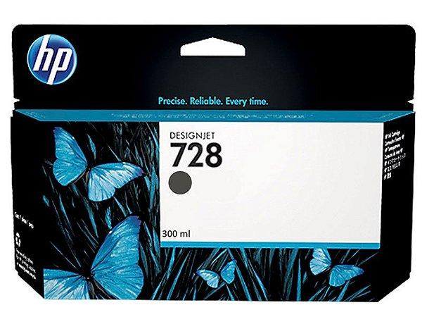 Cartucho de Tinta HP 728 Preto Fosco PLUK 300 ml - F9J68A