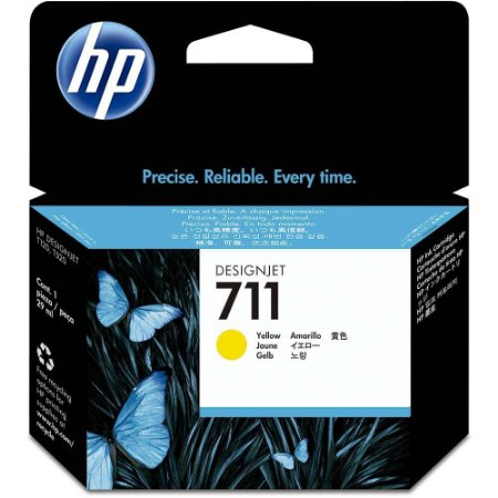 Cartucho de tinta HP 711 Amarelo PLUK 29ml - CZ132AB