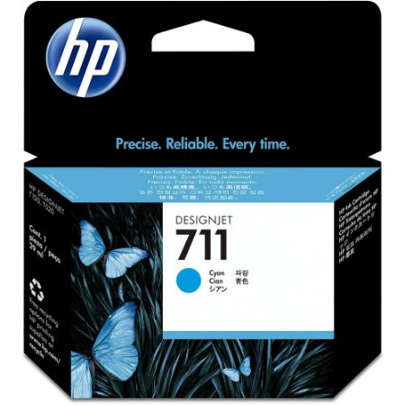 Cartucho de tinta HP 711 Ciano PLUK 29ml - CZ130AB