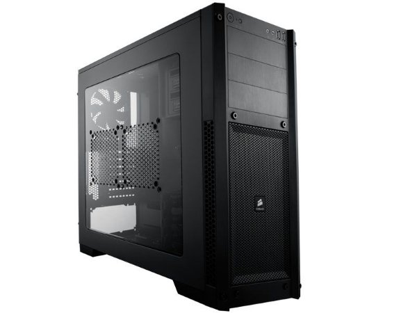 GABINETE GAMER CORSAIR CC-9011017-WW CARBIDE SERIES 300R LATERAL EM ACRILICO PRETO