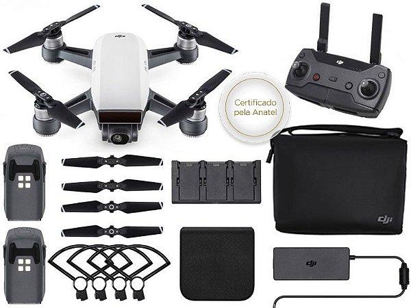DRONE DJI CP.PT.000909 SPARK FLY MORE COMBO WHITE ALPINE COM RADIO CONTROLE