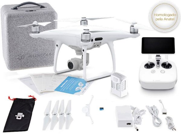 DRONE DJI CP.PT.000554 PHANTOM 4 PRO+ RÁDIO CONTROLE C/ TELA INTEGRADA DE 5.5 POL