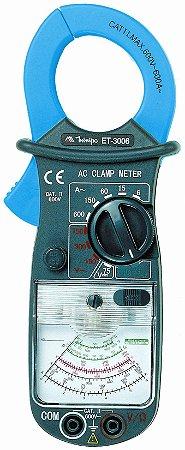 Alicate Amperímetro Analógico 600A AC – temperatura - Minipa ET-3006