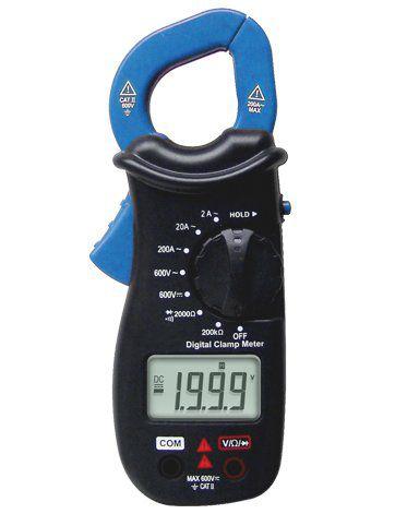 Alicate Amperímetro Digital  3 1/2D /CAT II/Corrente 200A/Res/DataHold - Minipa ET-3100