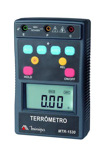 Terrômetro Dig Portátil 3 3/4 Dig CAT IV 400V / Tensão AC 400V/ Backlight / Auto Power Off / Data Hold - Minipa MTR-1530