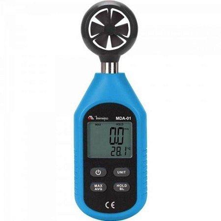 Anemômetro - mini ambiental / linha econômica - Minipa MDA-01