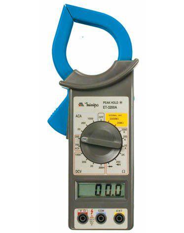 Alicate Amperímetro 1000A AC - Minipa ET-3200A