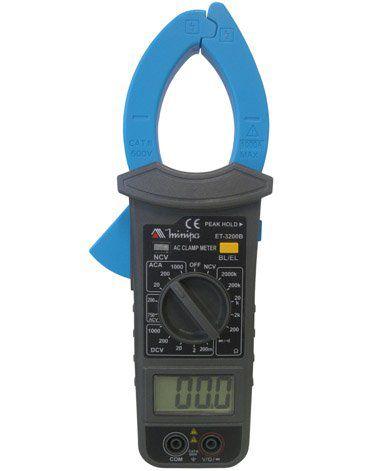 Alicate Amperímetro 1000A AC (Garra com Iluminação) - Minipa ET-3200B