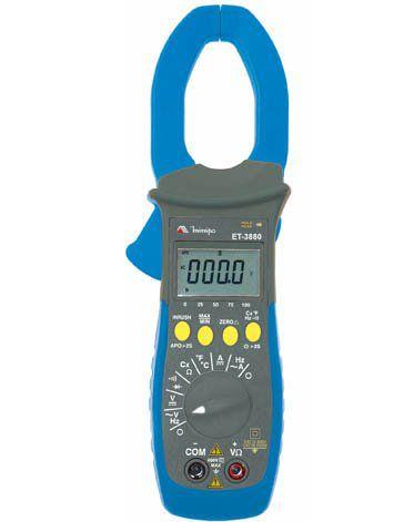 Alicate Amperímetro 1000A AC/DC cat. IV/ 4Dig/Barra Graf./PWM/IN-RUSH/True RMS - Minipa ET-3880