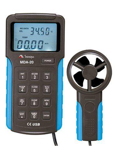 Anemômetro Digital com Datalogger e Interface USB - Minipa MDA-20