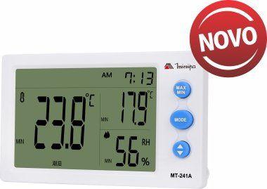 Relógio Termo-Higrômetro Int / Ext. /Visor Maior / |Display branco - Minipa MT-241A