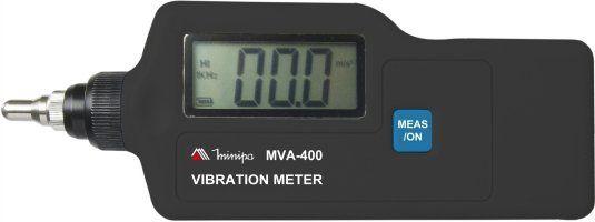 Medidor de Vibração / iluminação de display /Medições de velocidade, aceleração e deslocamento - Minipa MVA-400
