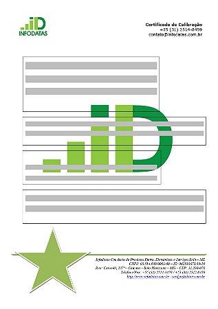 Certificado de Calibração para Medidor Camada sobre base ferrosa e base metálica não ferrosa Séries - MCT-401/MCT-301
