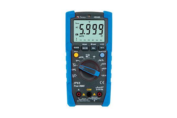 Multímero Digital CAT III 600V, True RMS , LoZ, IP65, Teste de Queda 2m, TEMP - Minipa HD-2400