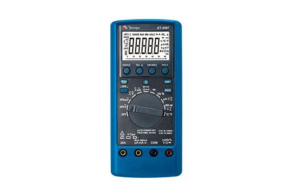 Multímetro Digital  4 5/6D/TrueRMS AC+DC/CAT IV /Condutância/ Cap/ Freq/Res/Duty Cycle/HPF/USB - Minipa ET-2587