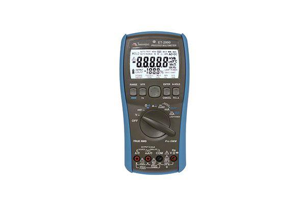 Multímetro Digital 4 4/5 D.Duplo (50000 cont.)/Barra Gráfica / Iluminação/ True RMS AC/AC+DC / Filtro de Alta Frequencia (HFR) / Memória para 100 Dados / CAT IV - MINIPA ET-2990