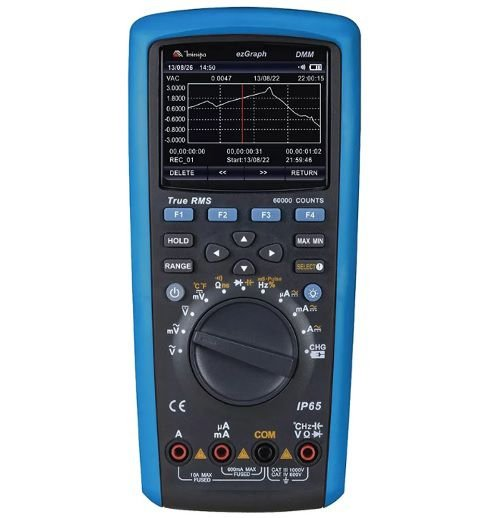 Multímetro Digital  4 5/6D Gráfico/TrueRMS AC+DC/CAT IV - Minipa ezGraph
