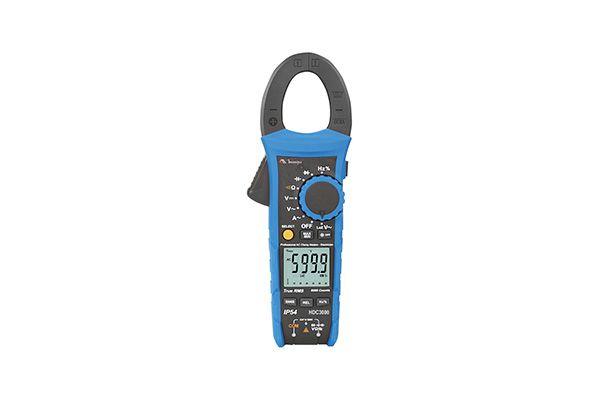 Alicate Amperímetro Digital 6.000 contagens/ CAT IV 600V/  True RMS/ 600 ACA/ CAP/ IP54/ Teste de queda 2m - MINIPA HDC3000