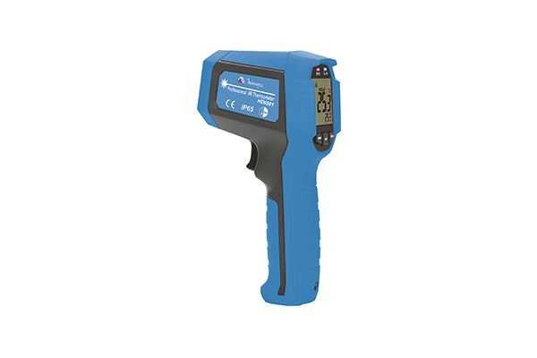 Termômetro Infravermelho/ Temperatura - 35 ~ 650 °C/ Campo de visão 20:1/ Laser duplo/ IP 65/ Teste de queda 3 m - MINIPA HDI501