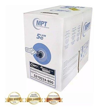 CABO REDE MPT F/UTP 24AWG X4P CAT5E CM (INTERNO/EXTERNO) - PRETO