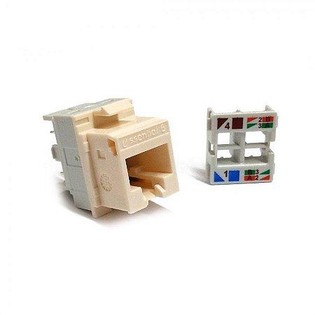 Conector Keystone CAT6 RJ45 Fêmea Nexans Essentials KS TL BG 90320