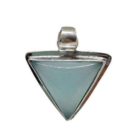 Pingente Calcedônia Triângulo