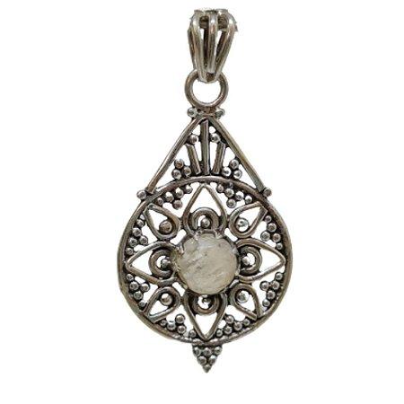 Pingente Pedra da Lua Mandala Celta