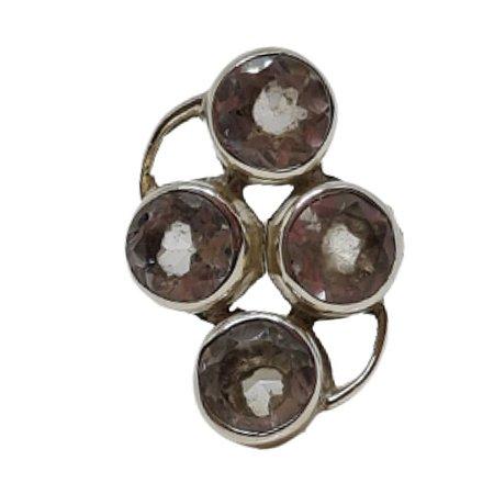 Anel Cristal Quatro Pedras