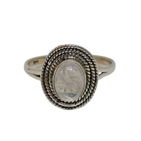 Anel Pedra da Lua Mini Mandala Melissa