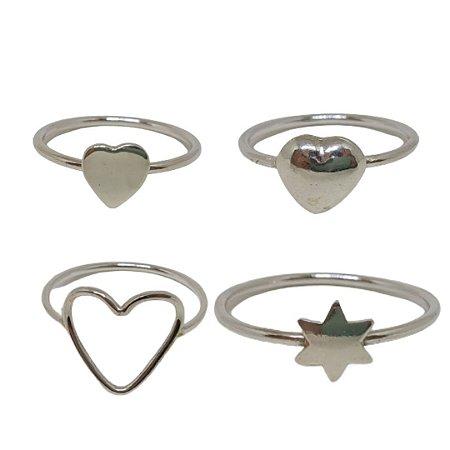 Kit de anéis Amor