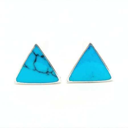 Brinco triângulo azul