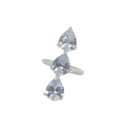 Anel três cristais