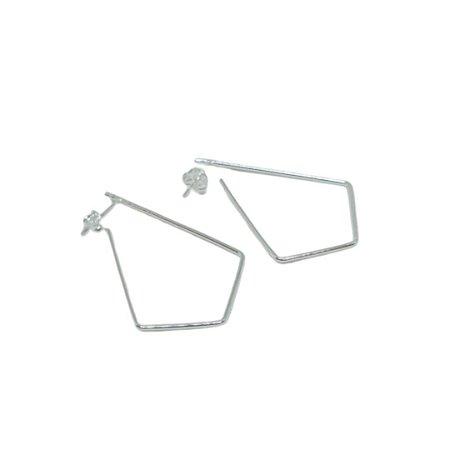 Brinco argola gota geométrica média