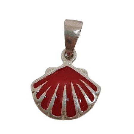 Pingente concha coral miudo