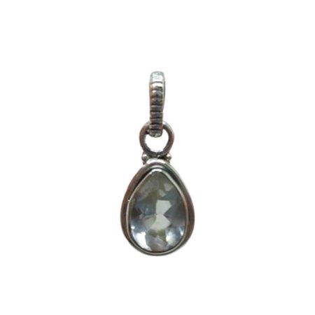 Minimalista - Pingente Cristal Mini gota Prata 925
