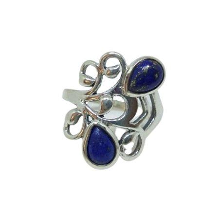 Anel Lapis Lazuli Arabescos