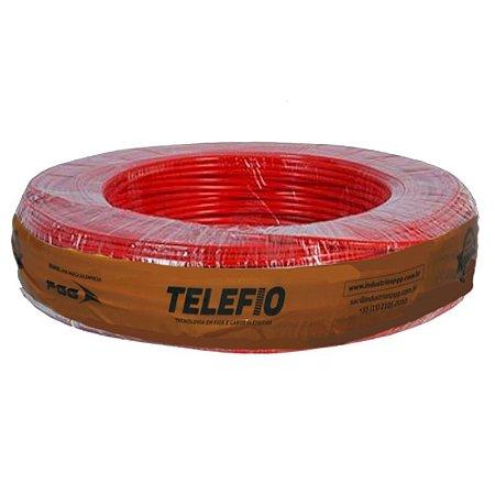 Cabo Flexível vermelho 4mm Rolo 100MT