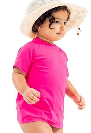 Camisa UV Infantil Feminina Raglã