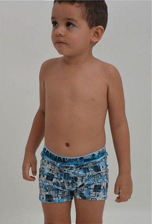 Cueca Boxer Carval Mic. de Poliester Infantil