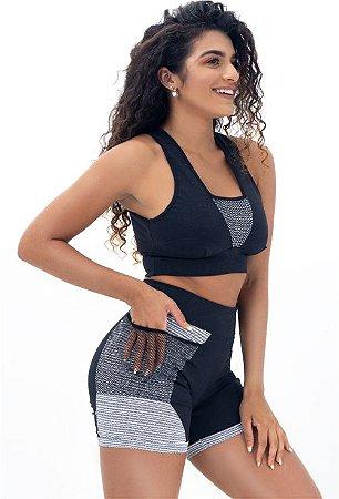 Conj. Fitness Short com Bolso 3661