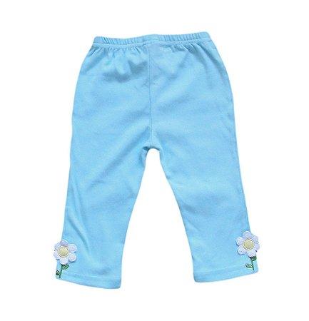 Calça Bebê Azul Flor