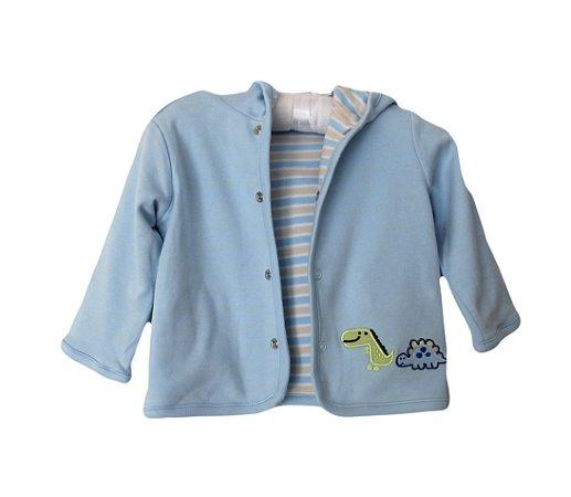 Casaco Bebê Reversível Azul