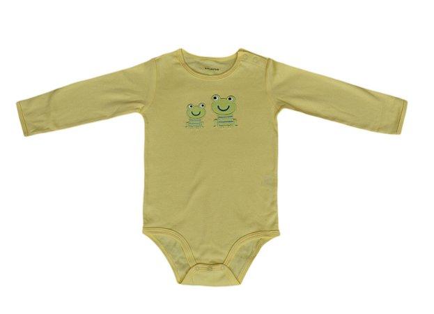 Body Bebê Manga Longa de Sapinhos
