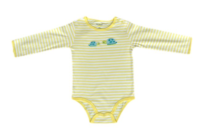 Body Bebê listrado de Tartarugas