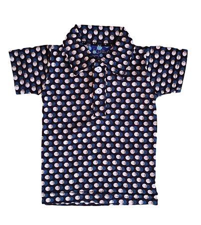 Camisa Bebê de Algodão Orgânico Polka Dots